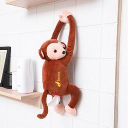 $enCountryForm.capitalKeyWord Australia - Creative Pipi Monkey Tissue Box Cartoon Paper Napkin Tissue Box Car Armrest Cute Interior Products Car Accessoriess