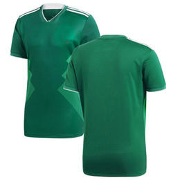 45b2fd1df Men Mexico League National Team Soccer 2018 Home Replica Blank Football  Jersey Green Shirts Size S-XL