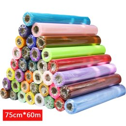 $enCountryForm.capitalKeyWord Australia - Haochu 75cm Wide * 60m Long Crystal Organza 19 Colors For Choose Tulle Roll Fabric Drapes For Wedding Birthday Party Decoration J190706