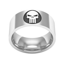 marvel rings Australia - Marvel Super Skull Punisher Ring Titanium Steel Ring For Men And Women New Fashion Cool Rings