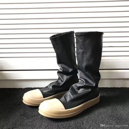 $enCountryForm.capitalKeyWord Australia - 2019 Factory outlet real picture high heel boots fashion sheep cowhide leather shoe bottom TPU milk high quality genuine leather knee boot