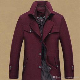 $enCountryForm.capitalKeyWord Australia - Mens Fashion Designer Jackets New Mens Wool Overcoat with Double Collar Stand Up Collar Gentlemen Coats