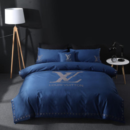 brands bedding sets Canada - Brand Design DoublBedding Set Polyester Cotton Soft Bed Linen Duvet Cover Pillowcases Bed Sheet Sets Home Textile Coverlets 4 PC Lot 11