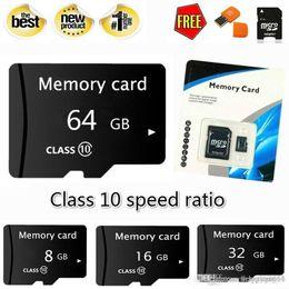 $enCountryForm.capitalKeyWord Australia - Wholesale retail Real capacity 8GB 16GB 32GB 64GB 128GB High Speed MicroSD SD TF Card Class10 Flash Memory + SD Card Reader + Adapter Reader