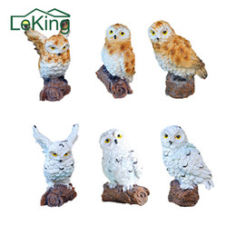 $enCountryForm.capitalKeyWord UK - Resin Imitation Mini Owls Miniature House Fairy Garden Micro Landscapegarden Outdoor Patio Decoration Plant Pots Bonsai Craft C19041702