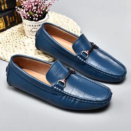 $enCountryForm.capitalKeyWord Australia - Luxury Shoes Men 2019 Men's Casual Shoes Non-Slip Men's Gommnio Driving Fashion Peas Soft Man Moccasins Slip-On Blue