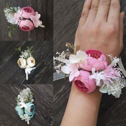$enCountryForm.capitalKeyWord Australia - 2019 Long Ribbon Artificial Wrist Flowers Quality Wedding Corsages And Boutonnieres Silk Rose Marriage Accessories