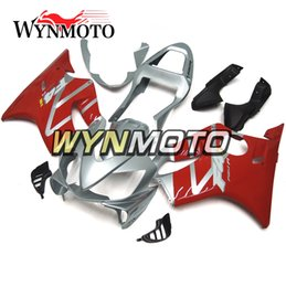 Motor Bicycles Australia - Silver Red Sportbike Hull for Honda CBR600F4i 2001 2002 2003 01 02 03 ABS Plastic Injection Carene Motor Bicycle F4i 01 02 03 Outer Covering