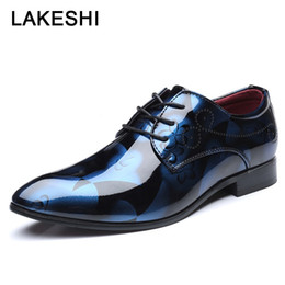 formal shoes patterns 2019 - Men Dress Shoes Floral Pattern Men Formal Shoes Leather Luxury Fashion Italian Oxford For Business Size 38-48 cheap form