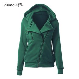 $enCountryForm.capitalKeyWord Australia - Monerffi Women Autumn Hoodies Slim Sweatshirt Fashion Lapel Zip Up Hooded Jacket Coat Female Fleece Tracksuit Outwear Plus Size MX190815