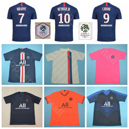 yellow green soccer kits NZ - Paris Germain 2019 2020 PSG Soccer Jersey 7 MBAPPE 12 MEUNIER 9 CAVANI 11 DI MARIA DRAXLER Football Shirt Kits Uniform