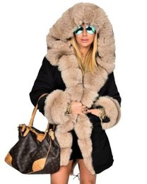 6d5a32f3ed2 Women Long Down Jackets Thick Warm Winter Fur Collar Designer Coats Army  Camouflage Military Down Parkas Coat