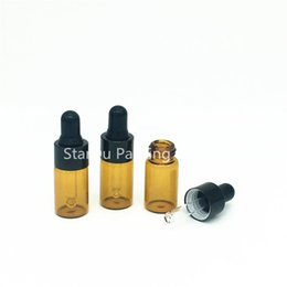 Mini pipettes online shopping - x ML Small Amber Glass Dropper Bottle cc Mini Glass Vial With Pipette Dropper