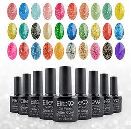 $enCountryForm.capitalKeyWord Australia - 10ml UV LED Nail Gel Glitter Color Gel Soak Off Nail Polish Diamond Glitter Shimmer Effect Long-Lasting Shimmer Nail Gel