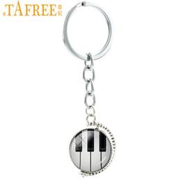 $enCountryForm.capitalKeyWord Australia - TAFREE Double Sides Pianoforte Keychain Vintage Piano Keyboard Drum Kit Violin Guitar Men Women Musician Car Key Chain Ring T486