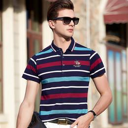 Polo Stripes Australia - 2019 New High Quality Tops&tees Men's Business Men Brands Polo Shirts 3d Embroidery Stripe Polos Mens Poloshirt 8080 C19041501