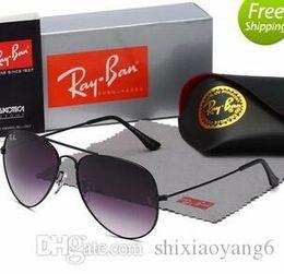 $enCountryForm.capitalKeyWord NZ - Classic Retro aviation Reflective Sunglasses Man woman designer resin Sun glasses Metal Frame Eyewear With Box Oculos De Sol polarized gafa