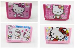 new hello kitty 2019 - 2018 New Hello Kitty Cat Coin Purse Cute Kids Cartoon Wallet Kawaii Bag Coin Pouch Children Purse Holder Women Wallet ch