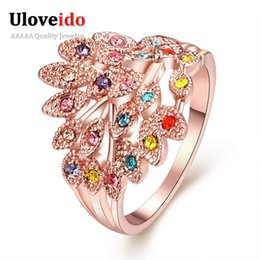 Cheap Christmas Gift Jewelry Australia - Fashion Wedding Large CZ Diamond Ring Cheap Jewelry Wholesale Christmas Rings for Women Girl Gifts for the New Year 2016 R062