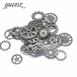 Making Coin Rings Australia - Cheap Charms YuenZ 50g bag Mix Charm Punk steam gear jewelry accessories Fit Metal Necklace Ring Bracelet Pendant Jewelry making U08