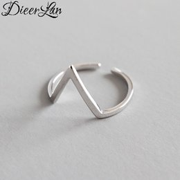 $enCountryForm.capitalKeyWord Australia - Trendy Fashion 925 Sterling Silver Letter Rings for Women Girls Punk Vintage Personality Lady Bridal Engagement Rings Anillos