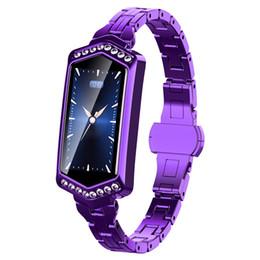 $enCountryForm.capitalKeyWord UK - B78 Smart Watch Women IP67 Waterproof Heart Rate Monitor Metal Strap Fitness Bracelet for Android IOS Phone Wife Gift