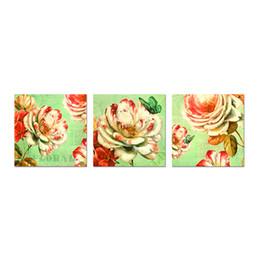 $enCountryForm.capitalKeyWord UK - Unframed Vintage Elegant Flower Pictures Bathroom Kitchen Wall Art Floral Painting Canvas Prints