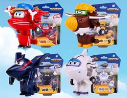 Super Airplane Action Figures Australia - 1pcs Super Wings Action Figure Toys Mini Airplane Robot Superwings Transformation Anime Cartoon Toys For Children Boys Gift
