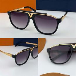 Hot women sunglasses online shopping - Popular hot outdoor men MASCOT sunglasses metal plus plate square frame retro avant garde design style top quality
