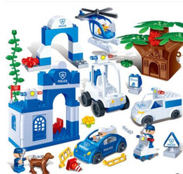 Police Block Australia - Children's educational early education toys plastic jigsaw blocks city police headquarters gift essential choice of children's good partner