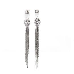 EmErald gifts for womEn online shopping - Pandulaso Enchanted Tassels Drop Earrings for Women New Silver Long Drop Earrings Fashion Sterling Silver Jewelry Gifts J190521