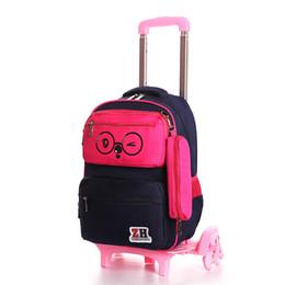 $enCountryForm.capitalKeyWord Australia - 3PCS SET new kids climb stairs luggage school bag on wheels students knapsack suitcase 5-10 years child Lovely travel backpack