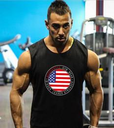 ded466ee6b28e7 2019 New Muscleguys Brand Bodybuilding Stringer Tank Tops Men Fitness  Singlets Gym Vest Clothing Sleeveless Shirt Vest Flag Printed