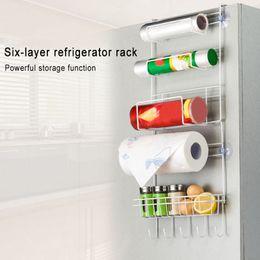 $enCountryForm.capitalKeyWord Australia - Multifunctional Multilayer Kitchen Storage Hanger Iron Refrigerator Side Shelf Rack Oganizer Tool XH8Z