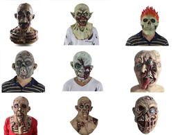 $enCountryForm.capitalKeyWord NZ - Halloween Zombie Mask,Horror Alien Mask,Creepy Scary Cosplay Latex Full Face Helmet Halloween Party Adult Costume Props
