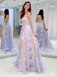 $enCountryForm.capitalKeyWord Australia - 2019 Cheap Long Prom Dresses Sequins A Line Sweetheart Tulle Lace Up Lilac Blue Coral Party Bridesmaid Dresses Evening Gowns formal