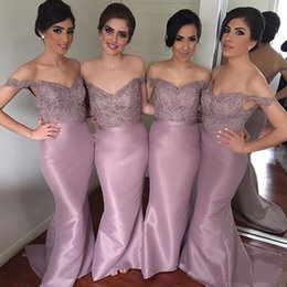 Coral Beads For Sale Australia - Sexy Sweetheart Off the Shoulder Satin Mermaid Bridesmaid Dresses 2019 Hot Sale Floor Length Evening Gowns for Wedding Party