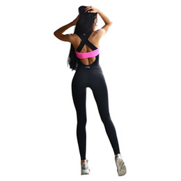women clothing jumpsuits UK - New Sports Jumpsuit Sport Suit Women Tracksuit Yoga Set Tight Bandage Backless Gym Running Set Sport Wear Women Fitness Clothing