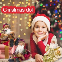 wholesale doll houses Australia - 2020 New Santa Claus Sitting Dolls Fabric Christmas Dolls Christmas Children's Gift Toys Kids Gift House Ornament Halloween Gif