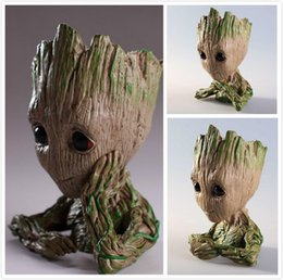 rubber flowers NZ - Groot Flower Pot Plant Tree Men Fairy Garden Pot Anime Movie Collection Action Figure Model PVC Kids Toys 3 styles