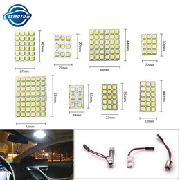 24 smd light panel Australia - 1setsX Led Panel 6 9 12 15 18 24 36 48 SMD 5050 T10 Ba9s c5w Adapter Festoon Dome reading Light Accessories Car Auto motor DC12V