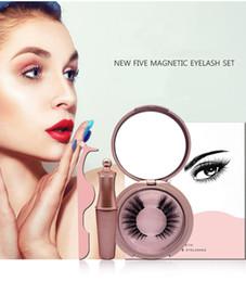 $enCountryForm.capitalKeyWord NZ - Natural long fake lashes 5 magnets eyelashes set + magnetic eyeliner + tweezer 6 styles available false eyelashes DHL Free
