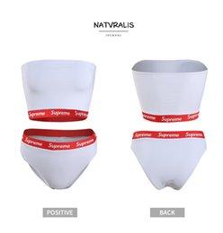 Yeni indirim beyaz ve kırmızı kenar Seksi Bikini göğüs şal Tasarım kadın Mayo 2 Adet / takım Yaz Yüksek Kaliteli Mayo.