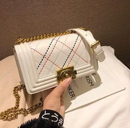 factory outlet handbags Australia - Factory Outlet Brand Women Handbag Classic Lingge Chain bag Elegant Color Embroidered Line Women Shoulder Bag New Lock Lingge Messenger Bag