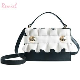 $enCountryForm.capitalKeyWord NZ - 2019 Fashion New Women's Designer Handbag High Quality Pu Leather Women Bag Simple Lace Square Bag Tote Shoulder Crossbody Bags