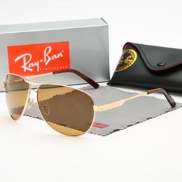 $enCountryForm.capitalKeyWord Australia - Brand designer Geometry Sunglasses Women men uv400 Lens Sun Glasses Mens Alloys Frame Eyeglasses Oculos De Sol with brown cases and box