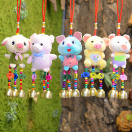 $enCountryForm.capitalKeyWord Australia - Handicraft Plush Cartoon Chime Doll with Beads and Bells Hanging Pendant For Home Decoration Car Decoration Christmas Gift 13 Inch
