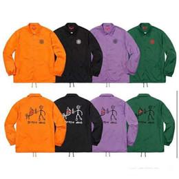 $enCountryForm.capitalKeyWord NZ - 18ss X Spitfire C0aches Jacket School Uniform Wind Jacket Fashion Women And Men Coat High Quality Outerwear Four Colors Jacket Hfwpjk095