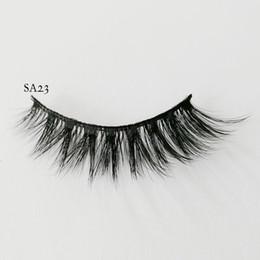 33601a46786 3D Faux Mink Hair False Eyelashes Fluffy Wispy Handmade Wispy Natural Long  Fake Lashes Eye Makeup Extension Tools 9