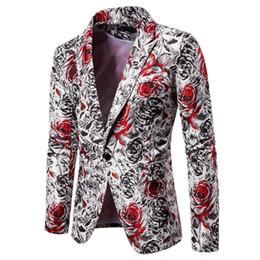 Wholesale men contrast color suit resale online – Mens Contrast Color Print Blazers Designer Plus Size Fashion Male Slim Fit Suits Jackets Tops Coats Outfit